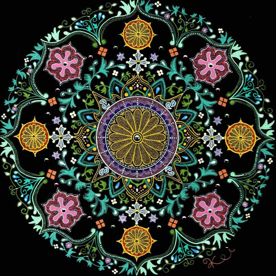 曼荼羅アート 作品名:花