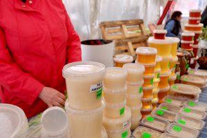 樺太の市場で蜂蜜