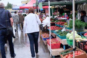 樺太の地元の市場