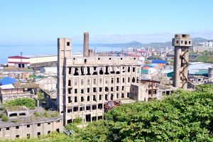 樺太の王子製紙工場跡