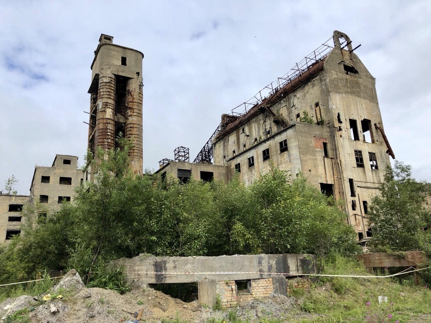 敷香(ポロナイスク)の廃墟