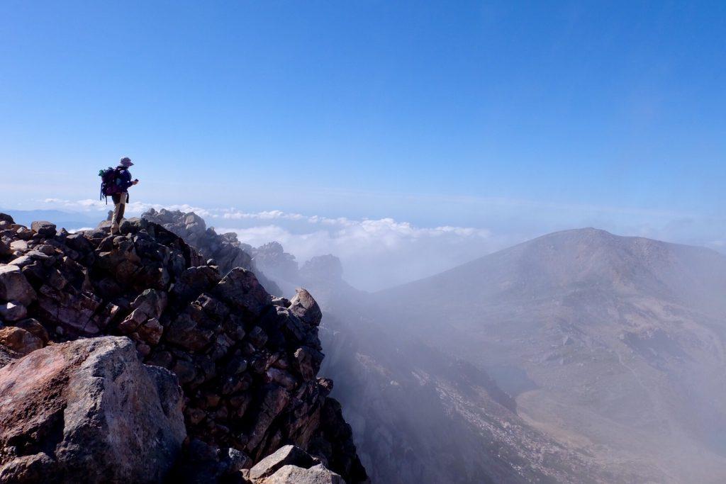 白山頂上からの景色