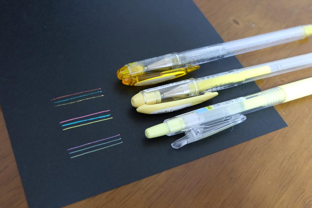 3種類のペン