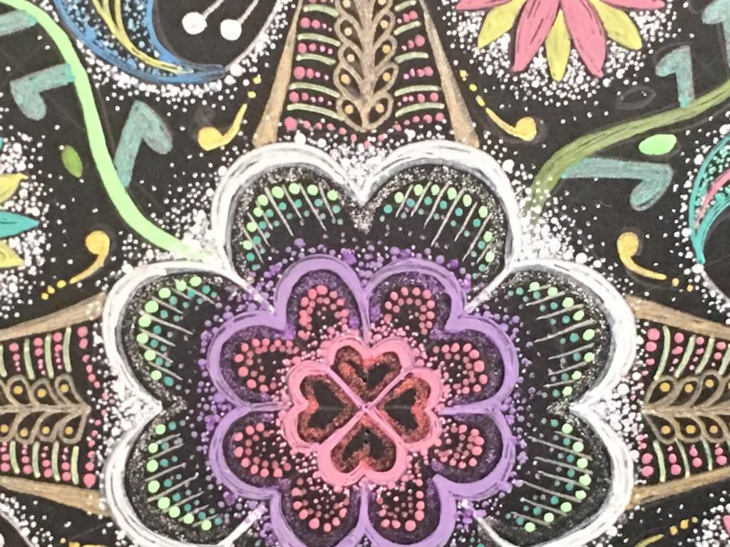 曼荼羅アートのアップ