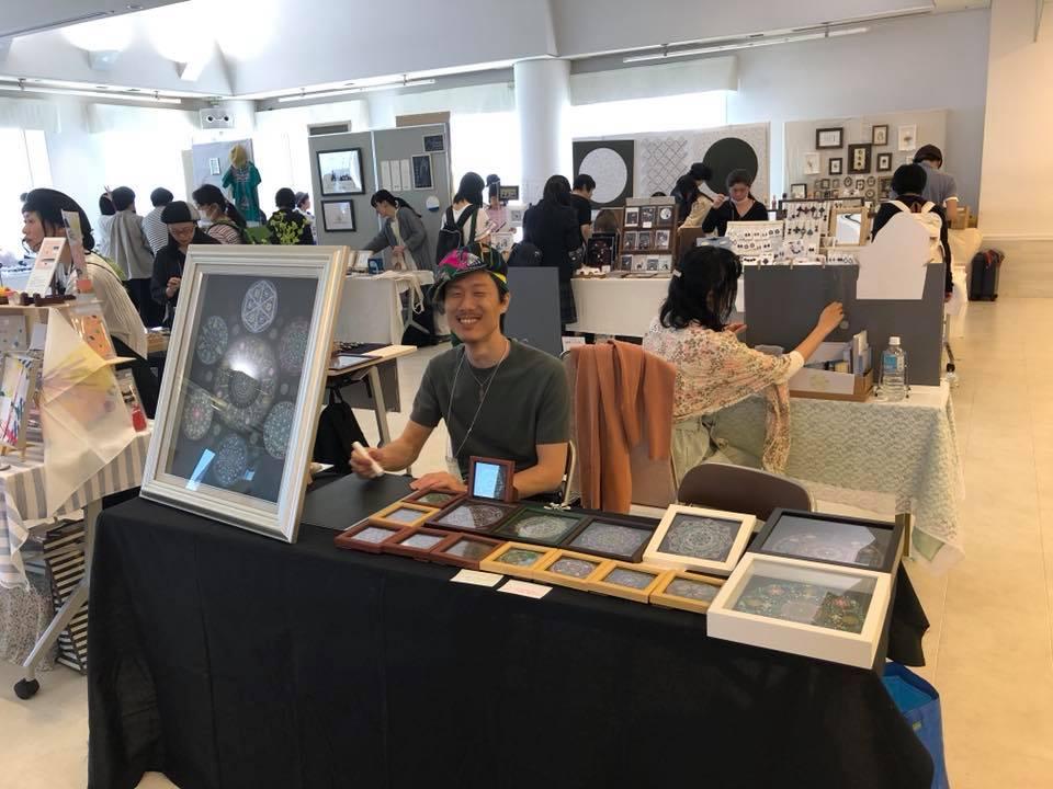 イベントでの曼荼羅アート展示